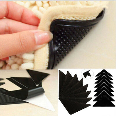 8x Non Slip Ruggies Miracle Gripper Stick Hold Grips Amazing Resubale Rug Mat AU