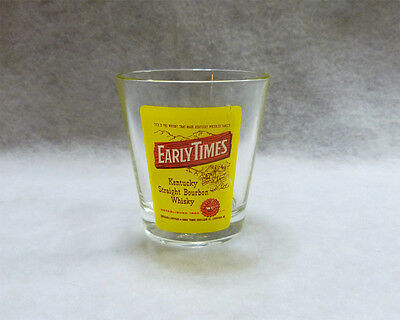 Early Times Kentucky Straight Bourbon Whiskey Glass