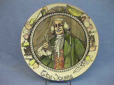 """Royal Doulton 'The Squire' Series Ware Plate TC1051 ~ Professionals ~ 10 1/2"""""""