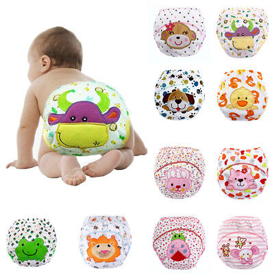Cartoon Baby Training Pants Waterproof Diaper Toddler Panties Underwear Reusable
