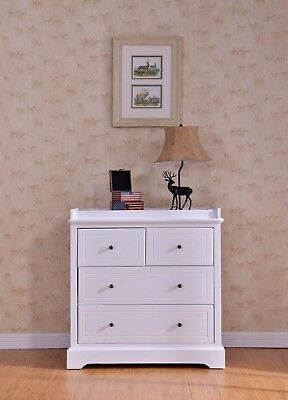 BNIB Quality White Finland Pine Baby Change Table 4 Chest of Drawers