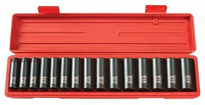 1/2-Inch Triple Square Drive Deep Impact Socket Set, Metric, Cr-V, 6-Point, 10