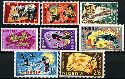 Nigeria 1969-72 SG#220-229, 1d-2s6d Definitives Wildlife MNH #D55663