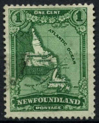 Newfoundland 1931 SG#198, 1c Green, Map With Wmk Used #D55761