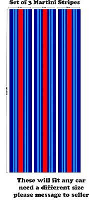 Le Mans Martini style Stripe 156 cm long 50 cm wide Sticker decal A648abc