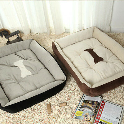 Waterproof Washable  Pet Bed Dog Cat Puppy Deluxe Suede Cushion Soft XXS-XL Size