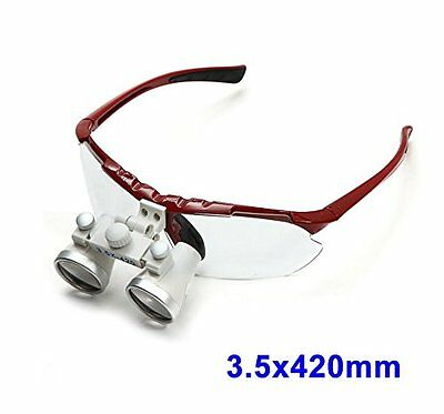 Dentist Loupes Dental Surgical Medical Binocular Optical Glass 3.5X420mm (FBA