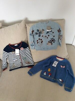 NEXT baby Girls Cardigan And Jumper Bundle X 3 BNWT Age 18-24 Months