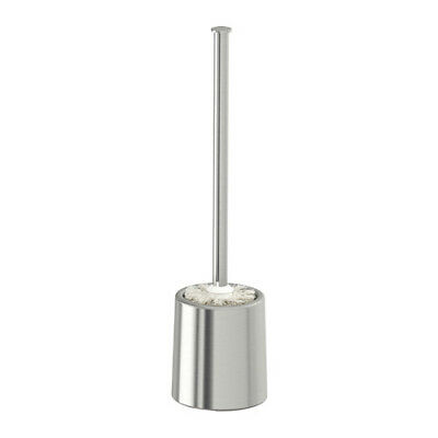 IKEA BROGRUND Wall Mountable Stainless Steel Toilet Brush 40cm with Stand Holder