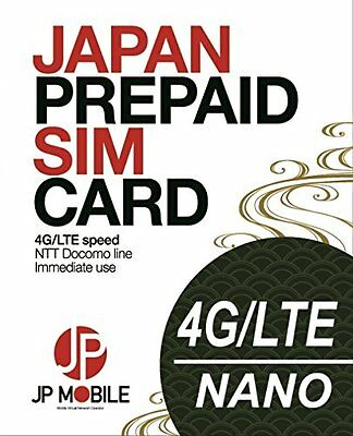 JP Mobile Prepaid Travel Data SIM for Japan: 8 days 3Gb (Activate by 31Aug18)