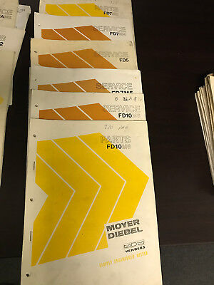 Service Manual Set Moyer Diebel Mdm Venders Original 6 Lot