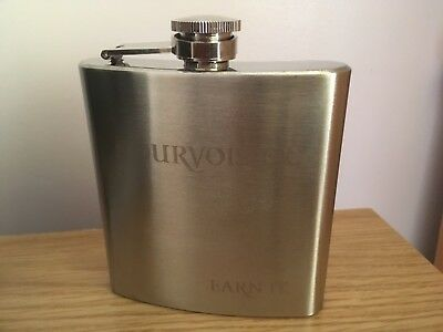 Authentic Courvoisier 6oz Hip Flask - Brand New in Box