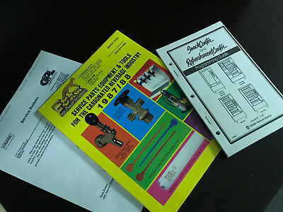 VINTAGE CATALOG BULLITEN GUIDE VENDING ORIGINAL 3 LOT crane