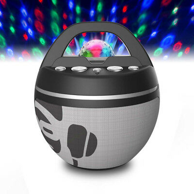 iDance Bluetooth Karaoke Portable System Built in Light Show in White - Black