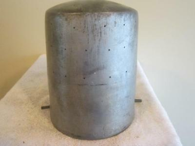 VINTAGE AlUMINUM  SQUARE CROWN /MILLINERY WOOD HAT MAKING BLOCK/FORM/MOLD/BRIM