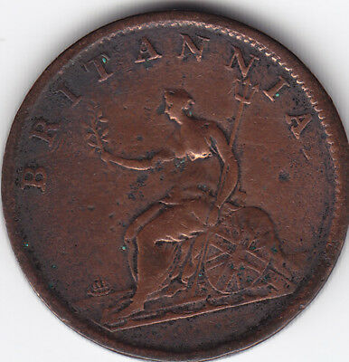 1807 Great Britain 1/2 Penny Coin F+