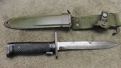 Us Early Vietnam Era 7.62Mm Bayonet Milpar W/ M8A1 Scabbard Fighting Knife
