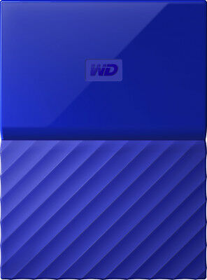 WD - My Passport 1TB External USB 3.0 Portable Hard Drive - Blue