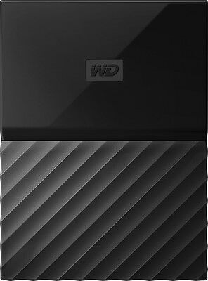 WD - My Passport 2TB External USB 3.0 Portable Hard Drive - Black
