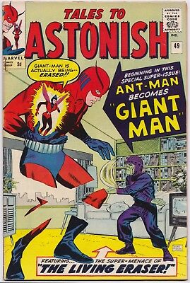 TALES TO ASTONISH (1959) #49 - 1st Hank Pym Giant-Man - VFN (8.0) - Back Issue