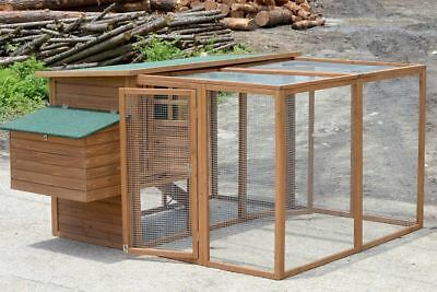 Chicken Coop with Run, Rabbit Hutch Guinea Pig Cage Ferret House