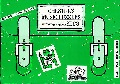 CHESTER'S MUSIC PUZZLES SET 3 THEORY QUESTIONS PAPERS Part Book Shop Soiled