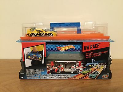 Hot Wheels Race Case Track Set Fully Portable with Carrying Handle