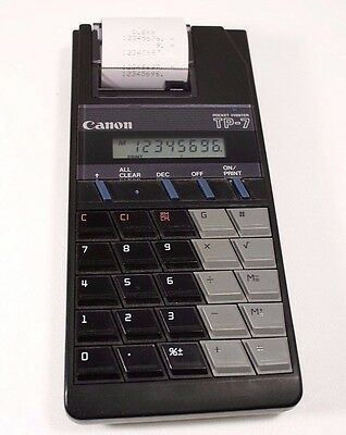 Canon TP-7 Calculator Pocket Printer Black with Case Tested Working
