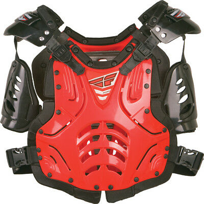Fly Racing Red Convertible II Chest Roost Protector Dirt Bike Protection Armor