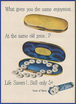 Vintage 1948 LIFE SAVERS Pep O Mint 5¢ Candy Peppermint Print Ad 40's