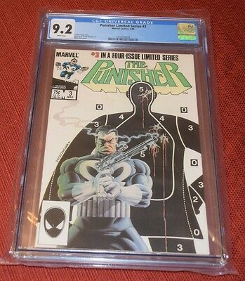 Punisher Limited Mini Series #3 1986 Jigsaw Appearance CGC 9.2 NM- White Pages