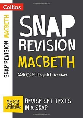 Macbeth: AQA GCSE 9-1 English Literature Text by Collins GCSE New Paperback Book