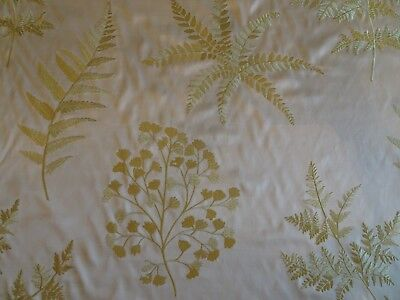 """Embroidered Old World Weavers Fabric """"Hill """" in Spring - 10 Yards"""