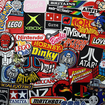 FAMOUS TOYS & GAMES Ultimate PATCH COLLECTION - UK Seller, Fast & Free Postage!