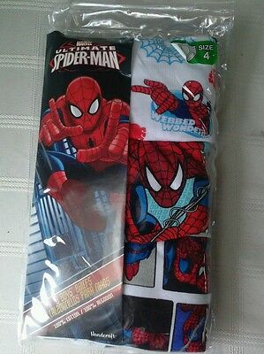 Nwt toddler boy size 4 3 pair spiderman underwear