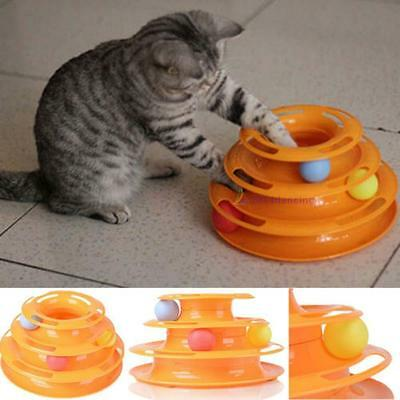Kitty Cats Animaux Interactive Toys Attractions Plate Tridermique Ball Yisque AH