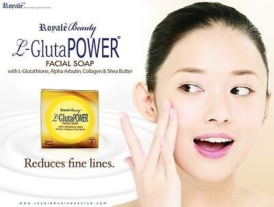 L-Gluta power facial soap