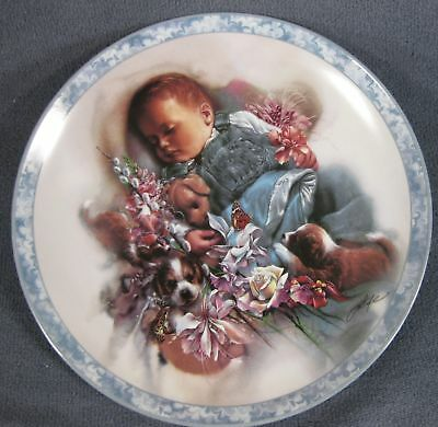 Puppy Dog Tails Collector Plate From Heaven Sent 1994 By Lee Bogle 84-B10-91.2