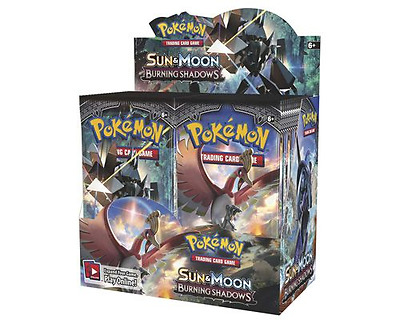 Sun & Moon Burning Shadows 6 Booster Pack Lot 1/6 Booster Box POKEMON TCG