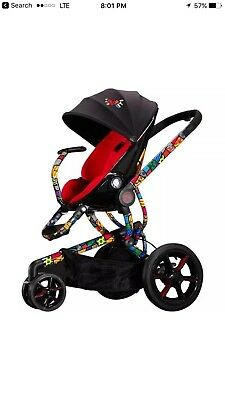 Limited Britto Quinny Red Cushion Stroller, Car Seat, Bassinet Exellnt Condition