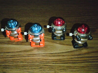 Vintage Lot of 4 Tomy Rascal Robots Wind Ups Robot