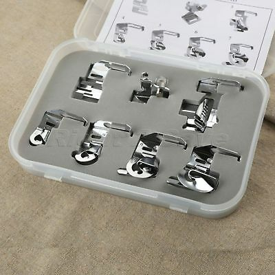 7Pcs Presser Foot Feet For Domestic Sewing Machine Janome Brother Singer