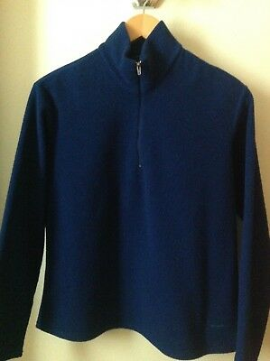 Boy's or Youth's PATAGONIA Capilene Zip-Neck Blue Fleece Top Size M