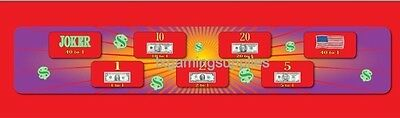 """Money Spin Prize Wheel Cloth Layout 15"""" x 48"""" / Casino Gaming"""