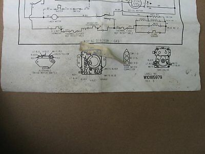 whirlpool dryer wiring diagram / w10185979 - electric or gas