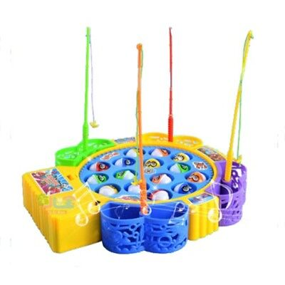 Kids Children Fun Time Creative Rotating Fishing Music Game Developmental W3I7
