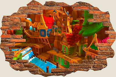 3D Hole in Wall Childs Building View Wall Stickers Film Mural Art Decal 107
