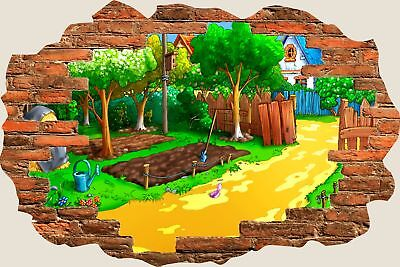 3D Hole in Wall Childs Garden View Wall Stickers Film Mural Art Decal 104