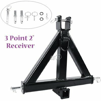 "3 Point 2"" Receiver Trailer Hitch Category 1 Tractor Tow Drawbar Pull - Middle"