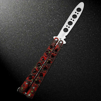 Cool Practice Training BALISONG  Dull Knifes Style Metal Trainer Tool